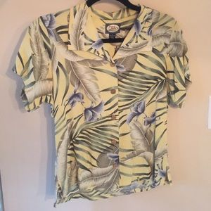 Tommy Bahama Silk Short Sleeve Top Size XS